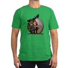 Party Moose Men's Fitted T-Shirt (dark)