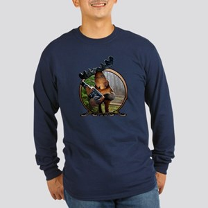 Party Moose Long Sleeve Dark T-Shirt