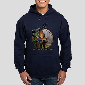 Party Moose Hoodie (dark)