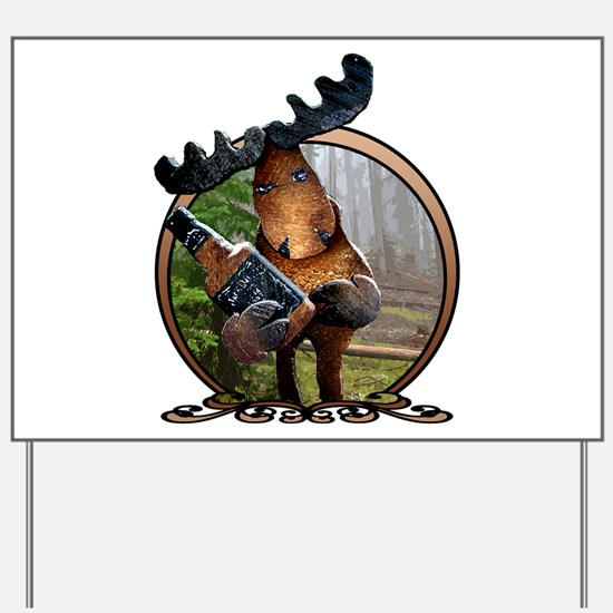 Party Moose Yard Sign