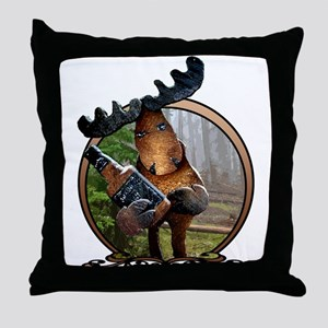 Party Moose Throw Pillow