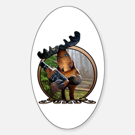 Party Moose Sticker (Oval)