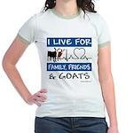I Live For Goats Jr. Ringer T-Shirt