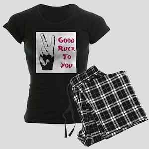 Good Ruck Engrish Women's Dark Pajamas