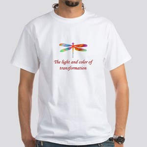 Dragonfly Transformation White T-Shirt