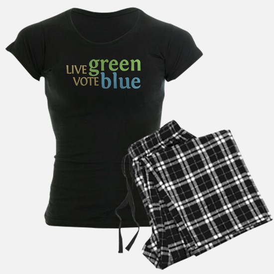 Live Green Vote Blue pajamas