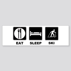 Eat Sleep Ski Sticker (Bumper)