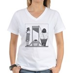 Turtle Guillotine Women's V-Neck T-Shirt