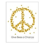 Give Bees a Chance Small Poster