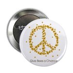 """Give Bees a Chance 2.25"""" Button (10 pack)"""