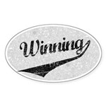 Winning Sheen Baseball Sticker (Oval)
