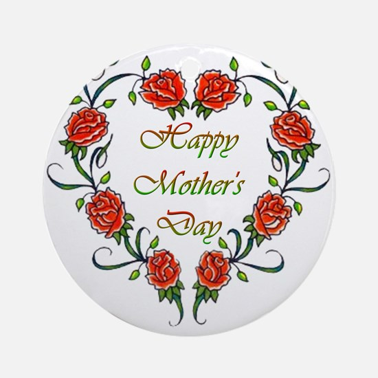 Roses Mother's Day Ornament (Round)