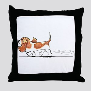 Basset Hound Places Throw Pillow