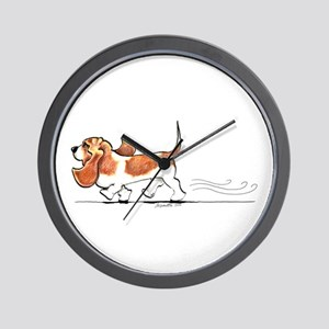 Basset Hound Places Wall Clock