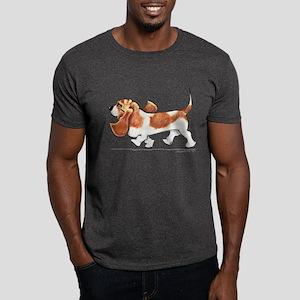 Basset Hound Places Dark T-Shirt