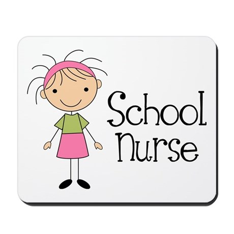 School Nurse Mousepad By Jobtees2