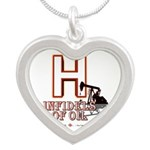 H Silver Heart Necklace