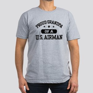 Proud Grandpa of a US Airman Men's Fitted T-Shirt