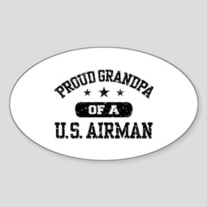 Proud Grandpa of a US Airman Sticker (Oval)