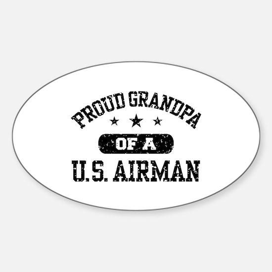 Proud Grandpa of a US Airman Sticker (Oval)