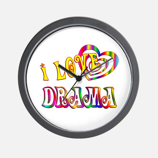 I Love Drama Wall Clock