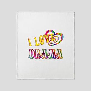I Love Drama Throw Blanket