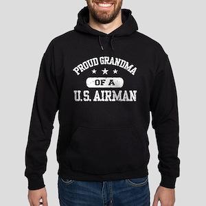 Proud Grandma of a US Airman Hoodie (dark)