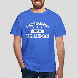 Proud Grandma of a US Airman Dark T-Shirt