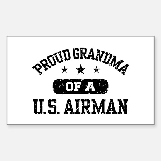Proud Grandma of a US Airman Sticker (Rectangle)