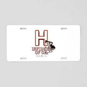 H Aluminum License Plate