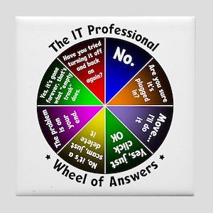 IT Wheel of Answers Tile Coaster