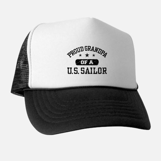 Proud Grandpa of a US Sailor Trucker Hat
