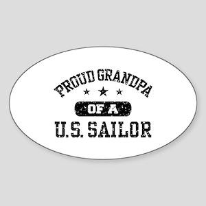 Proud Grandpa of a US Sailor Sticker (Oval)