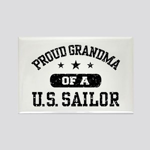 Proud Grandma of a US Sailor Rectangle Magnet
