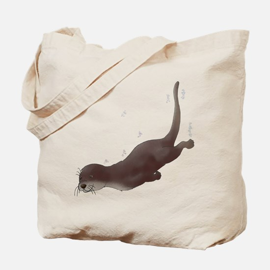 Otter Swim Tote Bag