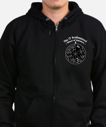 IT Wheel of Answers Zip Hoodie (dark)