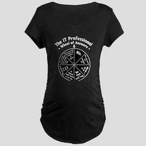 IT Wheel of Answers Maternity Dark T-Shirt