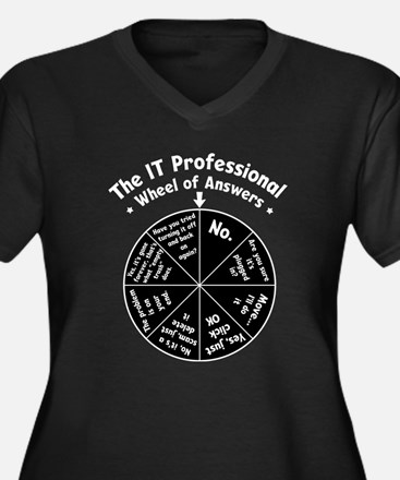 IT Wheel of Answers Women's Plus Size V-Neck Dark
