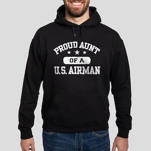 Proud Aunt of a US Airman Hoodie (dark)