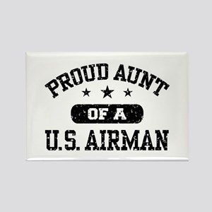 Proud Aunt of a US Airman Rectangle Magnet