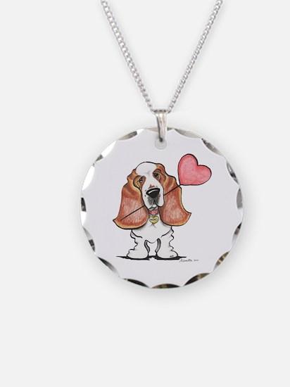 Basset Heart Balloon Necklace