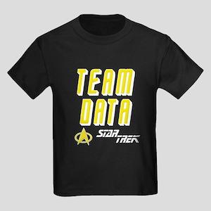 Team Data Star Trek Kids Dark T-Shirt