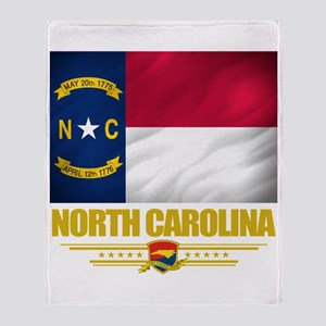 North Carolina Pride Throw Blanket