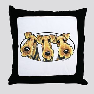 Airedale Terrier Lover Throw Pillow