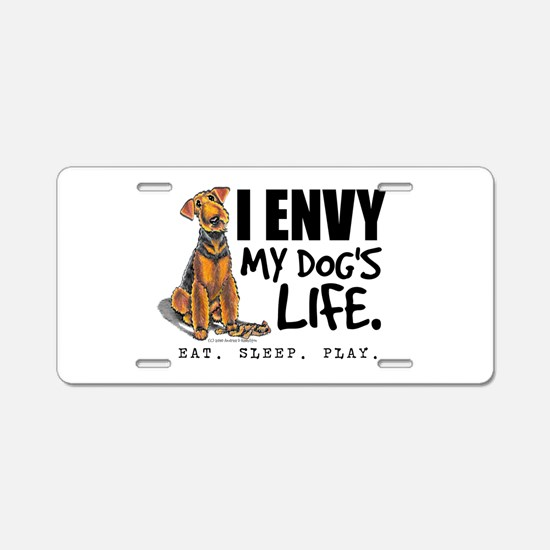 Airedale Terrier Funny Aluminum License Plate