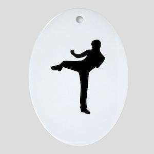 Kickboxing Ornament (Oval)
