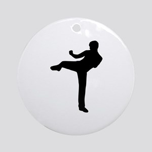 Kickboxing Ornament (Round)