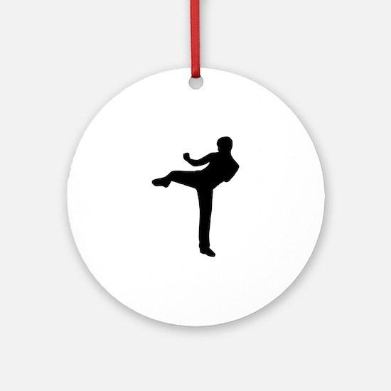 Kickboxing Ornament (Round)