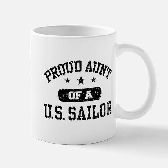 Proud Aunt of a US Sailor Mug