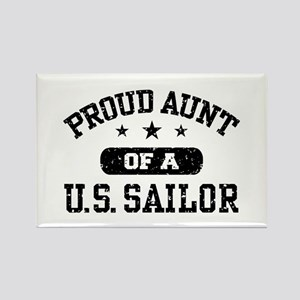 Proud Aunt of a US Sailor Rectangle Magnet